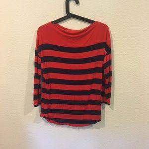 Halogen red striped shirt
